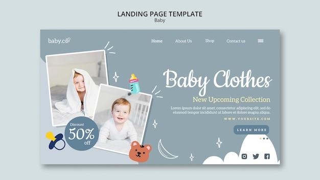 Modèle de page de destination pour bébé