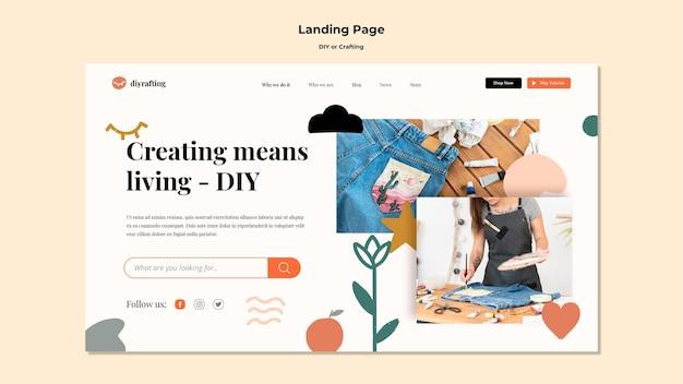 Modèle de page de destination pour les didacticiels de bricolage
