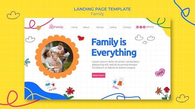 Modèle de page de destination pour du temps en famille de qualité