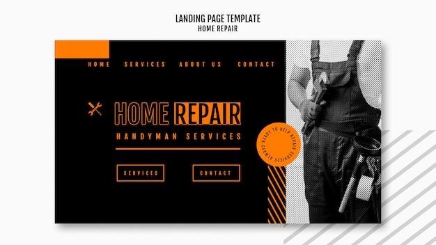 Modèle de page de destination pour entreprise de réparation de maisons