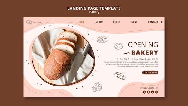 Modèle de page de destination pour les entreprises de boulangerie