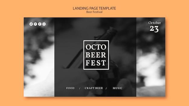 Modèle de page de destination pour le festival d'octobre