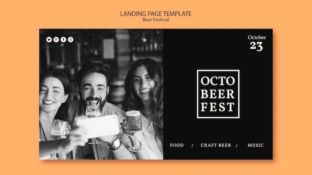 Modèle De Page De Destination Pour Le Festival D'octobre Psd gratuit