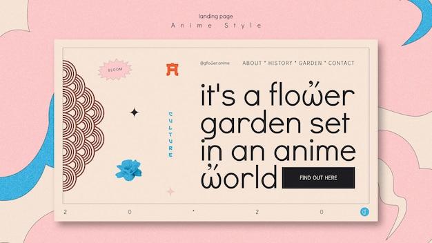 Modèle de page de destination pour jardin fleuri
