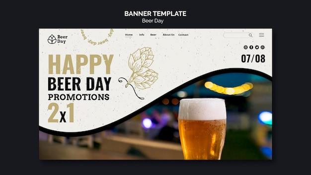 Modèle de page de destination pour le jour de la bière