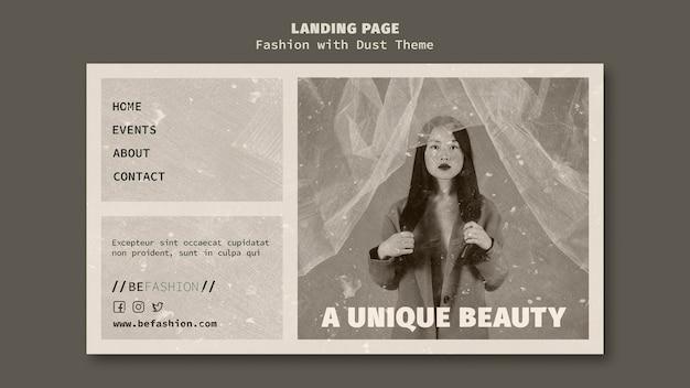 Modèle de page de destination pour magasin de mode