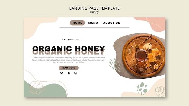 Modèle de page de destination pour le miel pur