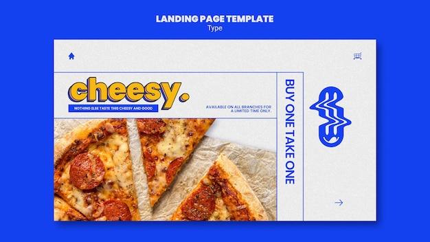Modèle de page de destination pour une nouvelle saveur de pizza au fromage