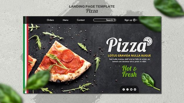 Modèle de page de destination pour pizzeria italienne