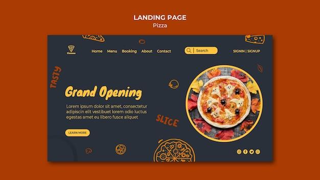 Modèle de page de destination pour pizzeria