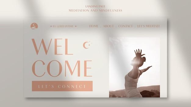 Modèle de page de destination pour la pleine conscience