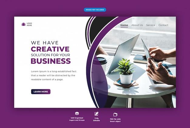 Modèle de page de destination pour la promotion commerciale d'une agence créative