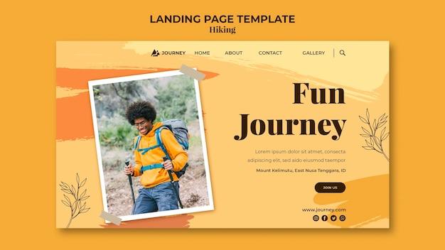 Modèle de page de destination pour la randonnée
