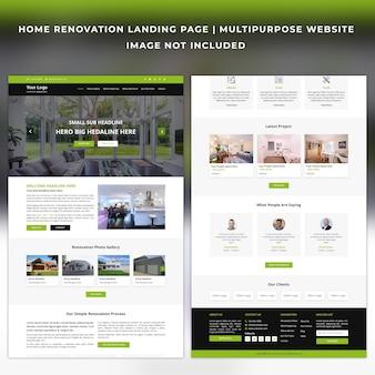Modèle de page de destination pour la rénovation domiciliaire