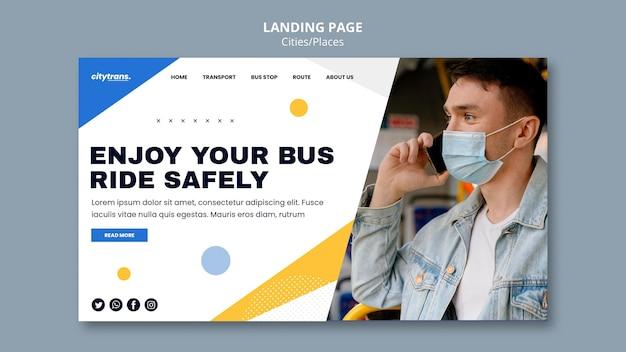 Modèle de page de destination pour rouler en toute sécurité