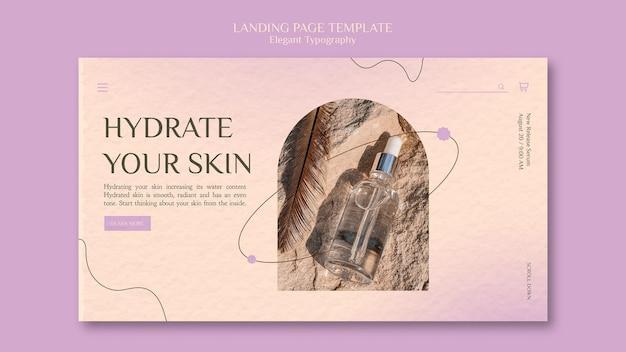 Modèle de page de destination pour les soins de la peau