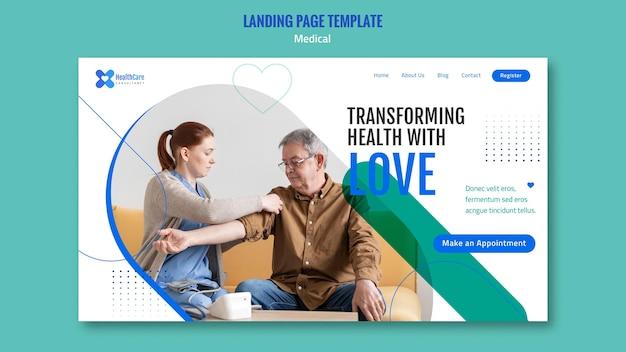 Modèle de page de destination pour les soins de santé