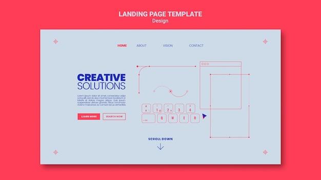 Modèle de page de destination pour des solutions commerciales créatives