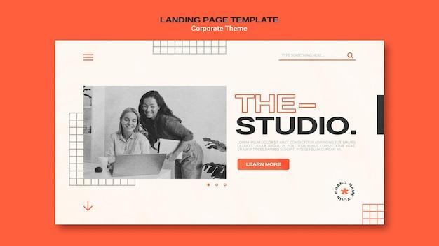 Modèle De Page De Destination Pour Studio D'entreprise PSD Premium