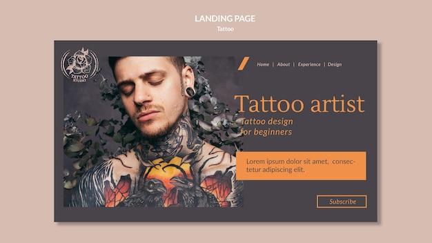 Modèle de page de destination pour tatoueur