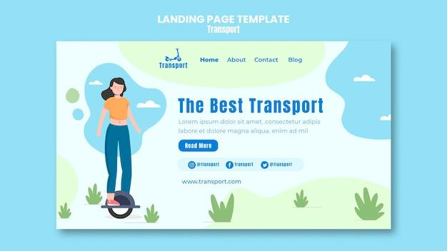 Modèle de page de destination pour le transport sécurisé