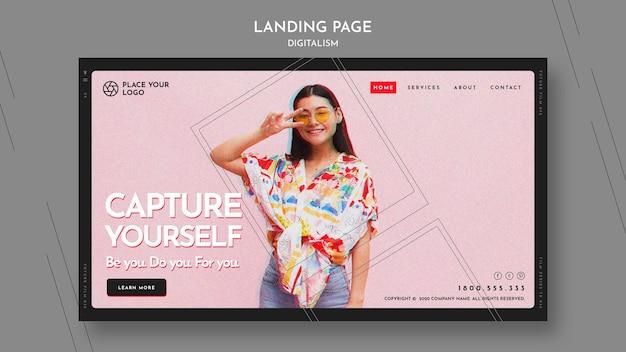 Modèle de page de destination pour vous capturer le thème