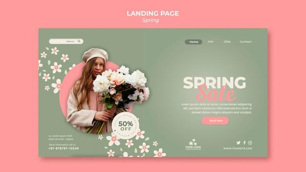 Modèle de page de destination de printemps