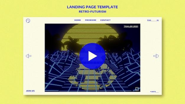 Modèle de page de destination rétro-futurisme