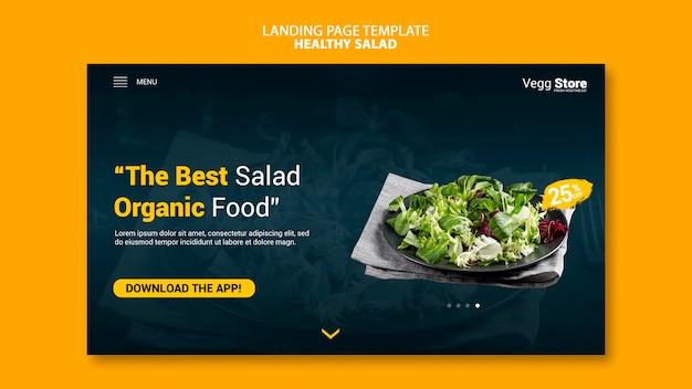 Modèle de page de destination de salade saine