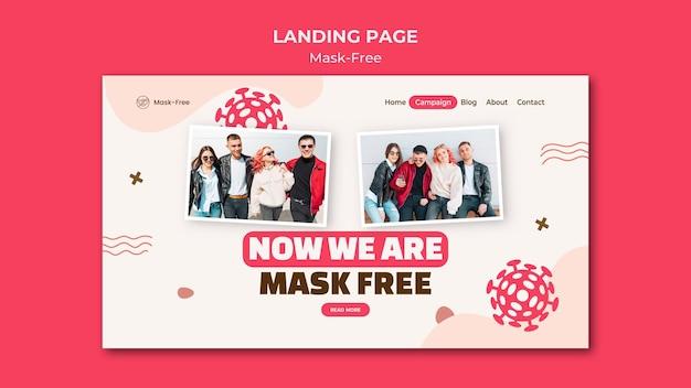 Modèle de page de destination sans masque