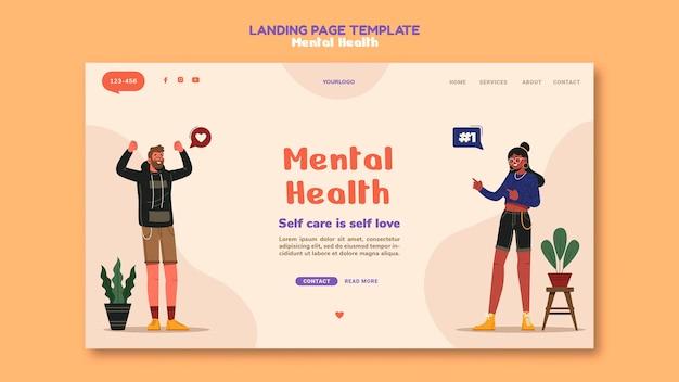 Modèle de page de destination sur la santé mentale