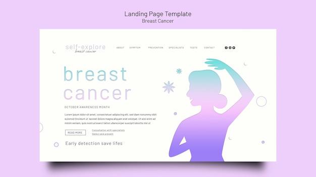 Modèle de page de destination de sensibilisation au cancer du sein