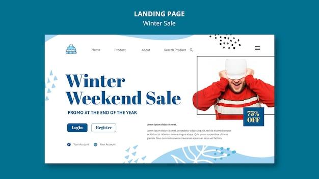 Modèle de page de destination des soldes d'hiver