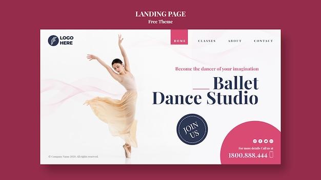 Modèle de page de destination de studio de danse