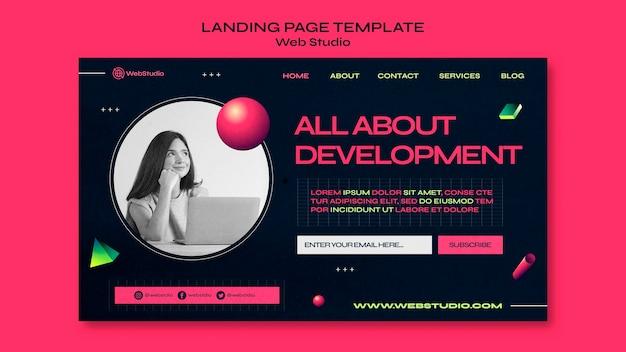 Modèle de page de destination de studio web