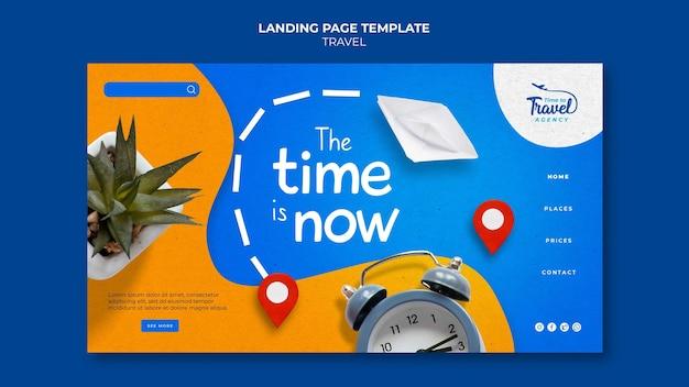 Modèle de page de destination de temps de voyage