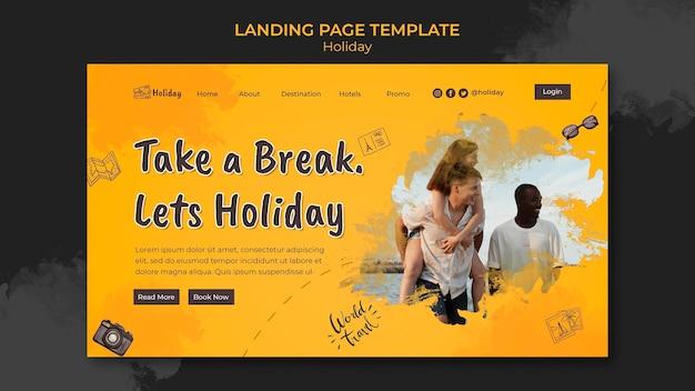 Modèle de page de destination de vacances