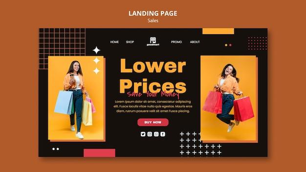 Modèle de page de destination de vente spéciale