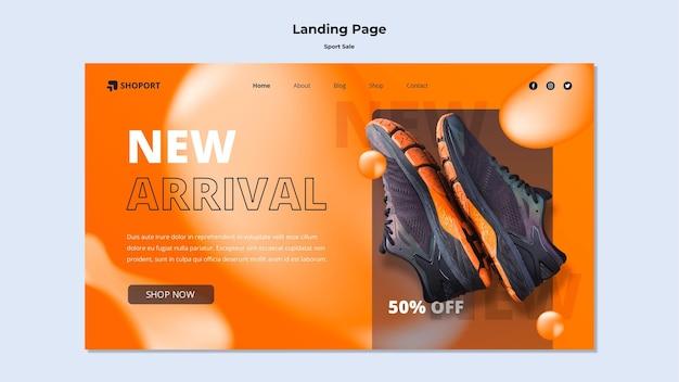 Modèle de page de destination de vente de sport