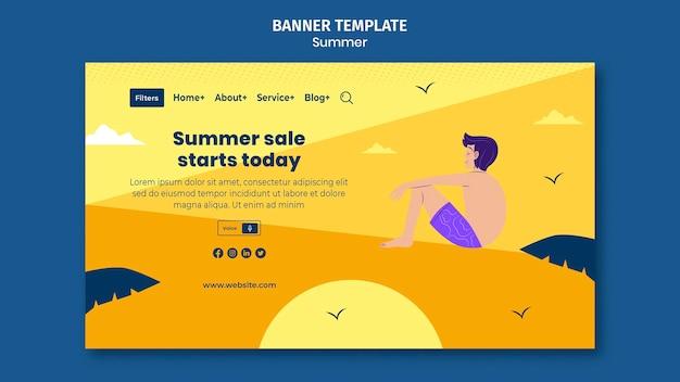 Modèle de page de destination des ventes d'été