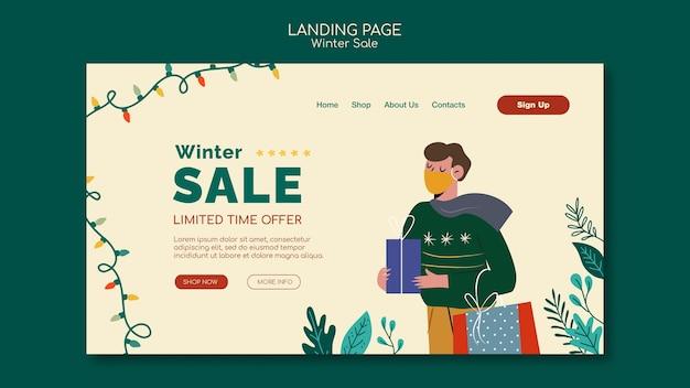 Modèle de page de destination des ventes de joyeux noël