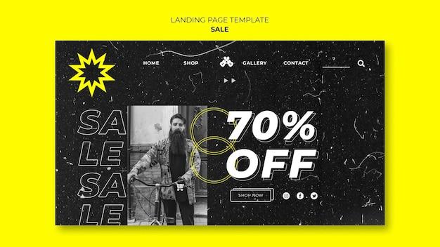 Modèle de page de destination des ventes de mode