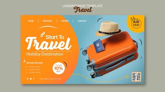 Modèle de page de destination de voyage créatif