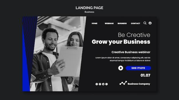 Modèle de page de destination de webinaire d'entreprise