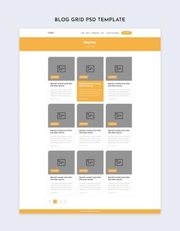Modèle de page intérieure de grille de blog