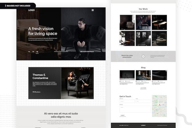 Modèle de page de site web fresh vision for living space