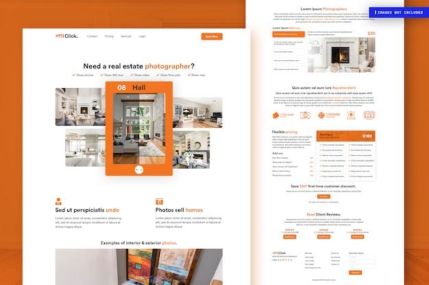Modèle de page de site web immobilier
