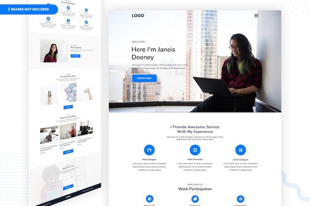Modèle de page de site web web designer