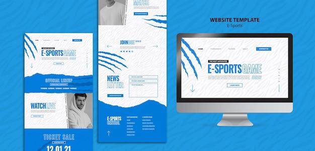Modèle de page web d'e-sport