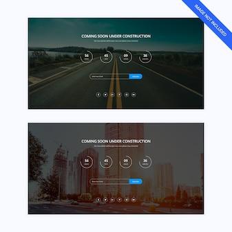 Modèle de page web à venir